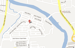 Asvinia location in Lippo Karawaci, Tangerang